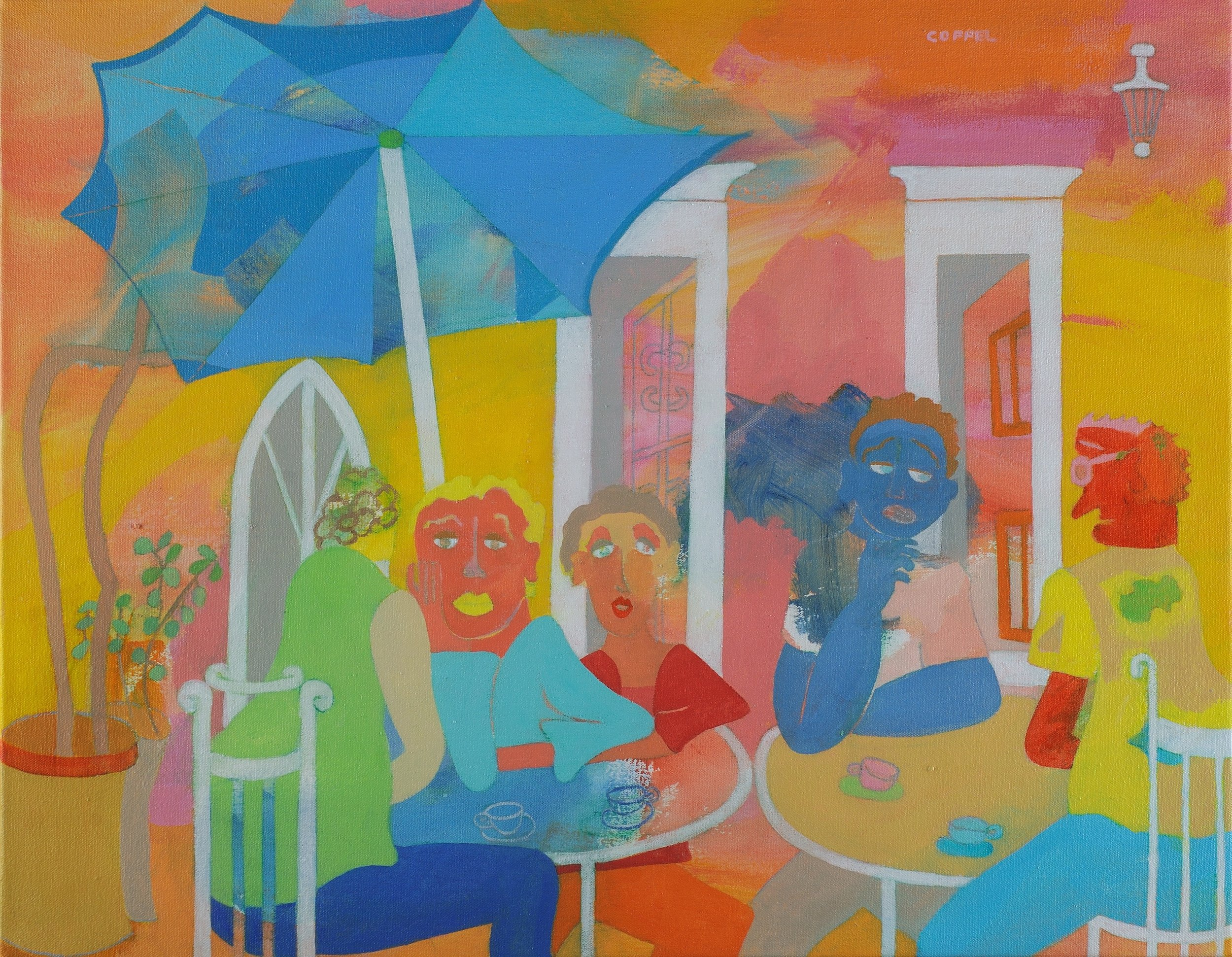 """Do You Remember When? Acrylic on Canvas 28"""" x 32"""""""
