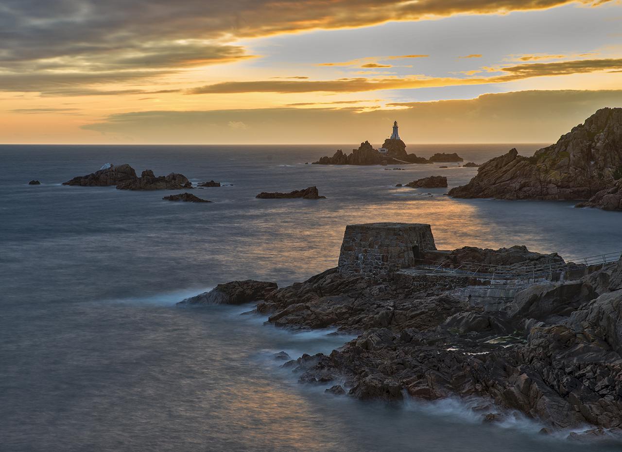 Looking toward Corbier Lighthouse at Sunset/Harvey Kupferberg