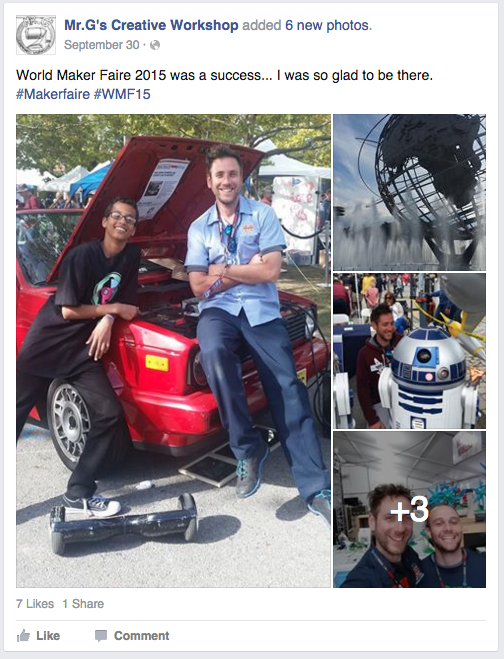 Here I am at Maker Faire 2015... with Ahmed Mohamed.