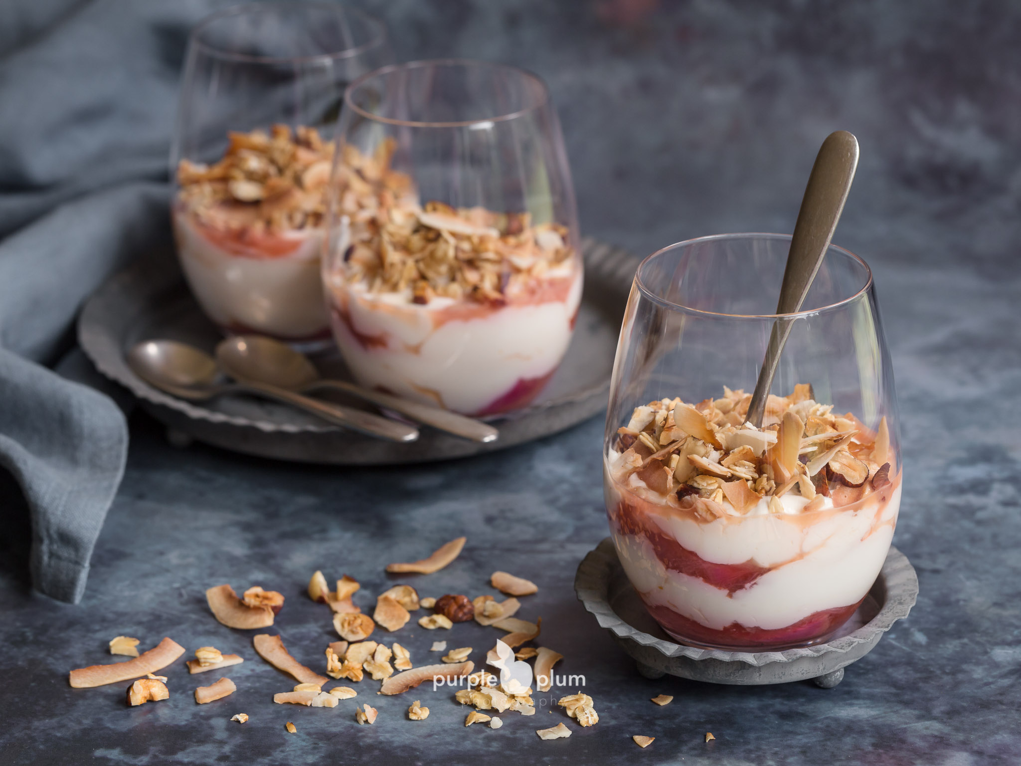 Rhubarb Breakfast Pots