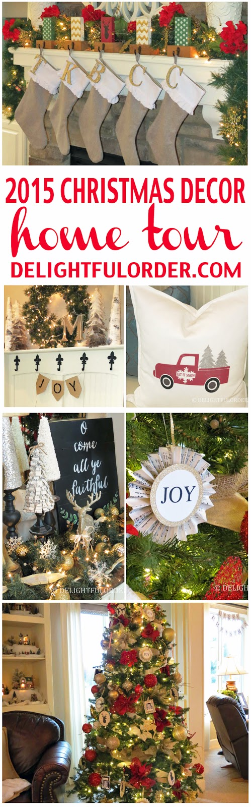 2015 Christmas Decor Home Tour
