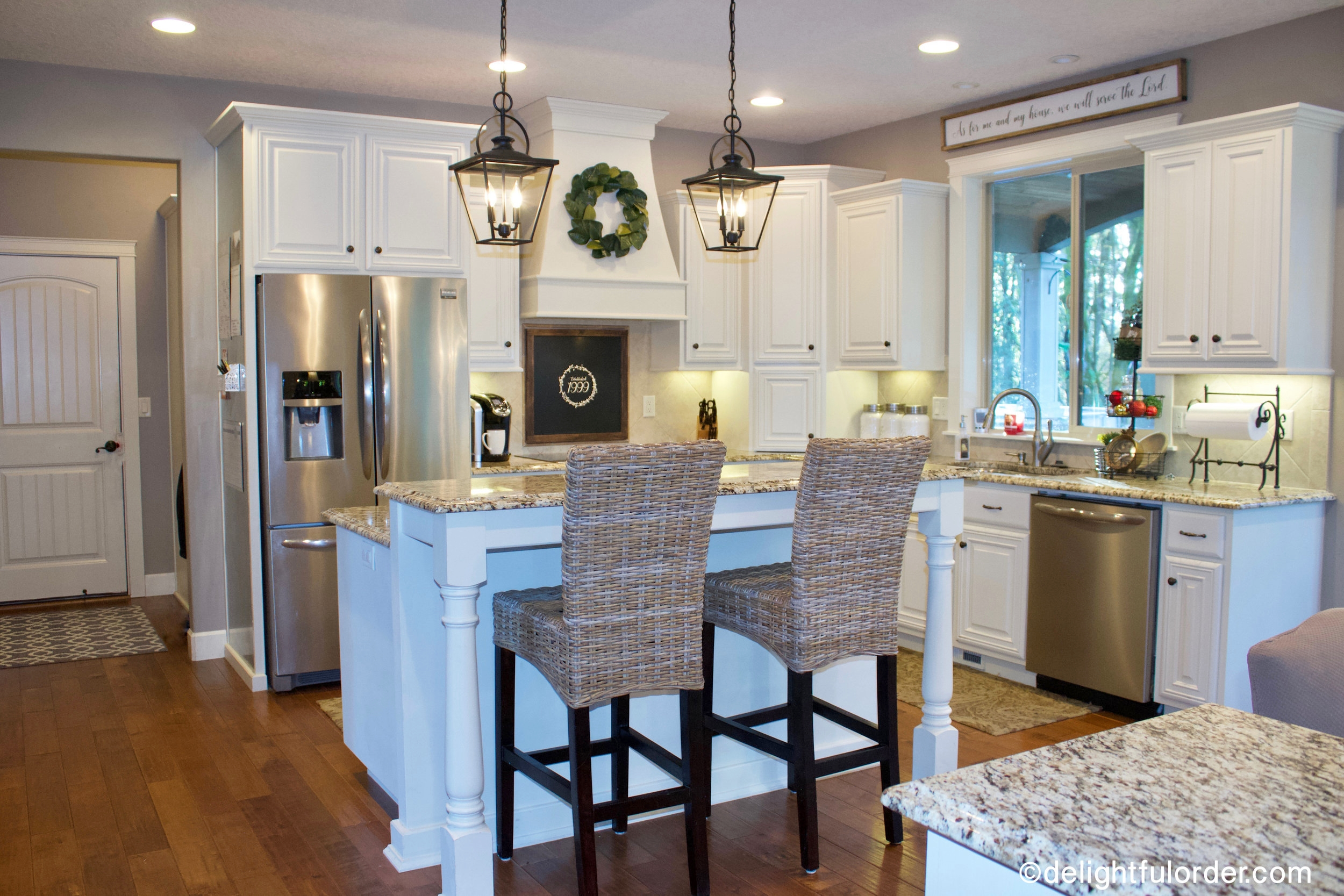 Kitchen Makeover: White Cabinets