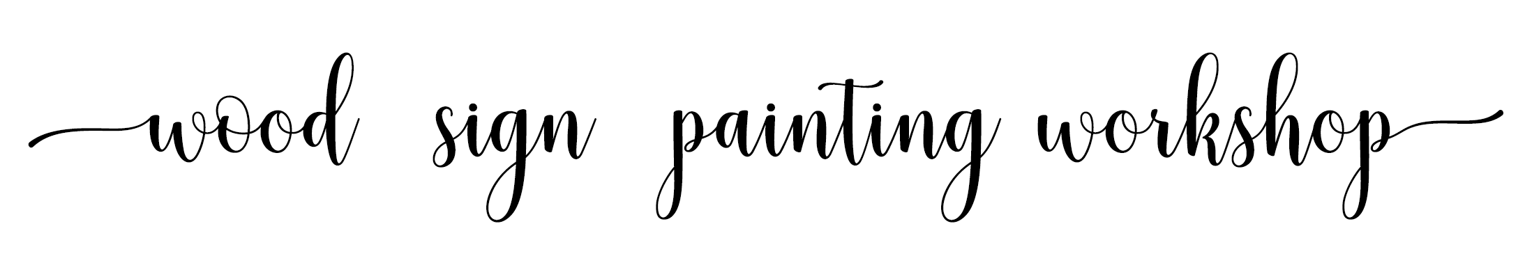 sign painting workshop