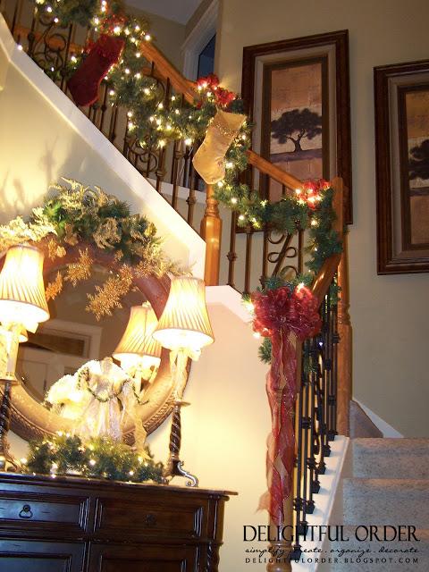 Staircase Christmas Decor