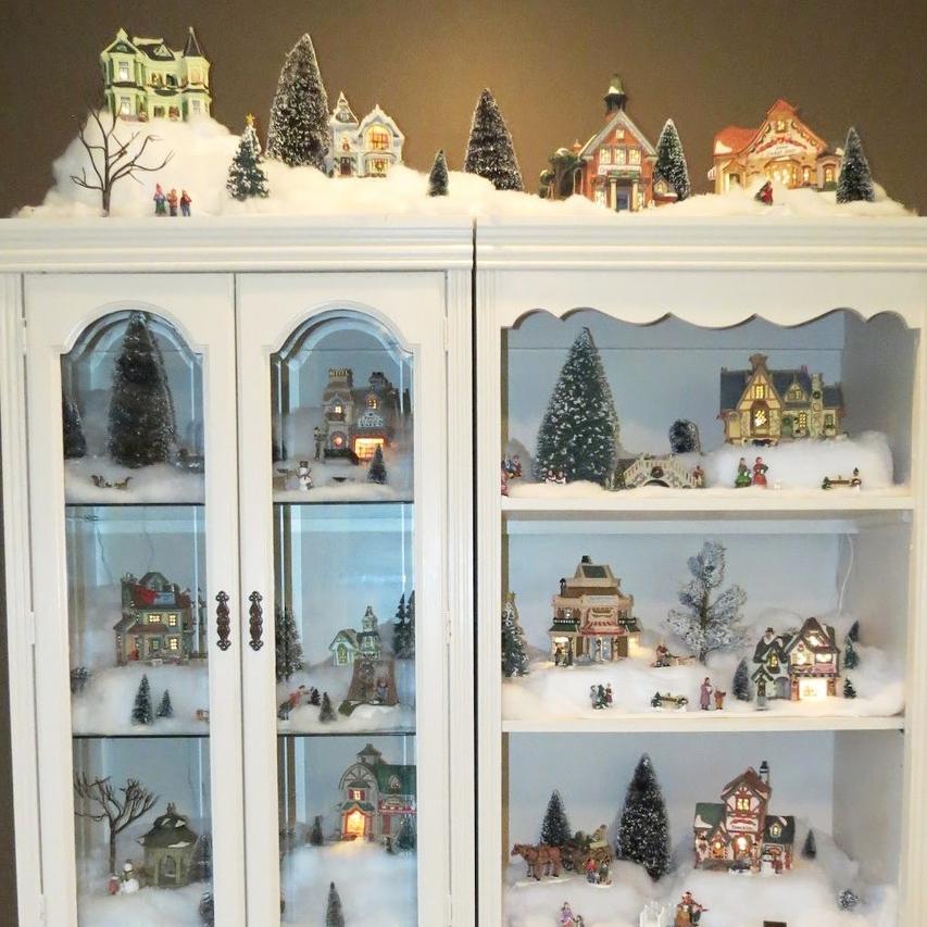 New Home Snow Village