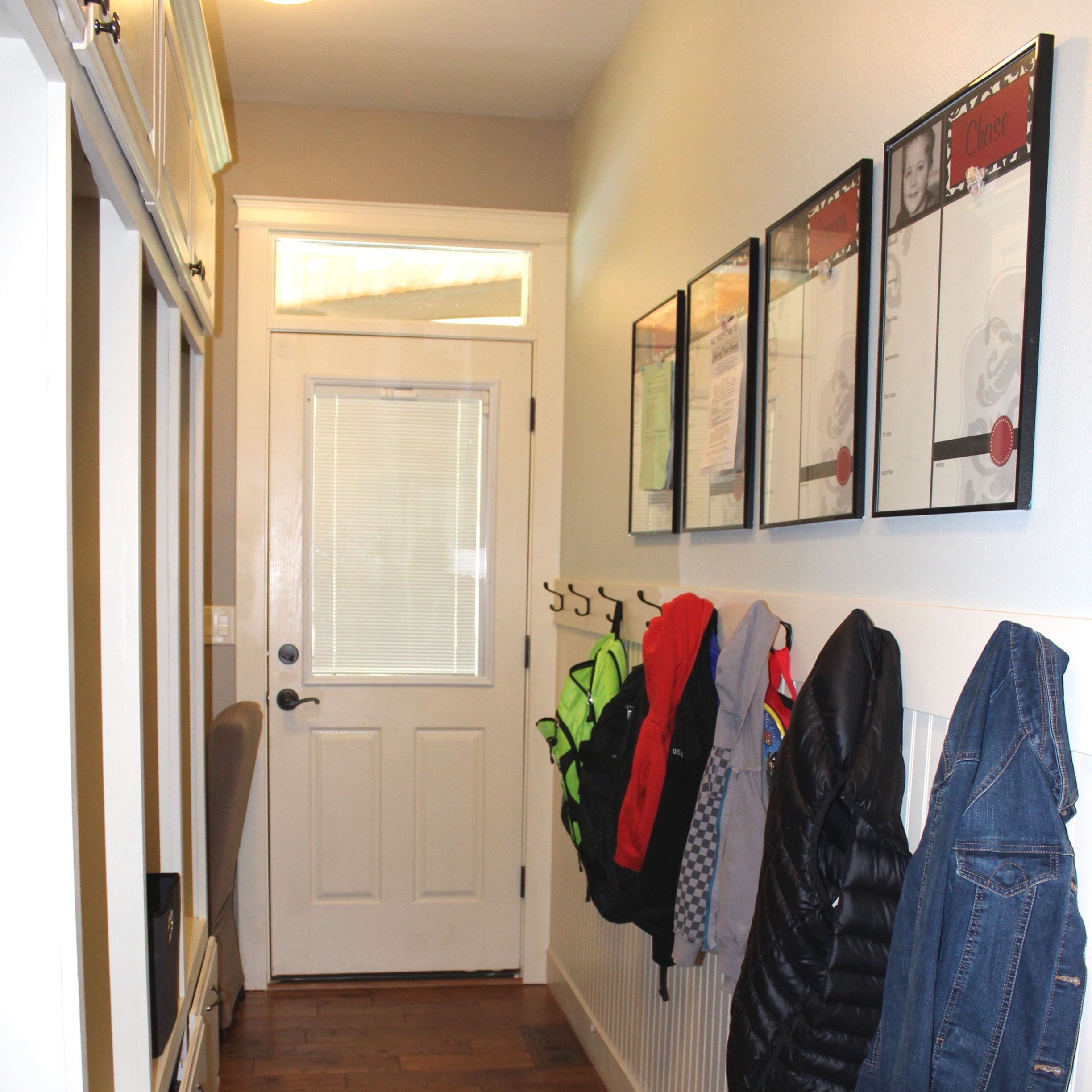 Back Entrance Mudroom Makeover