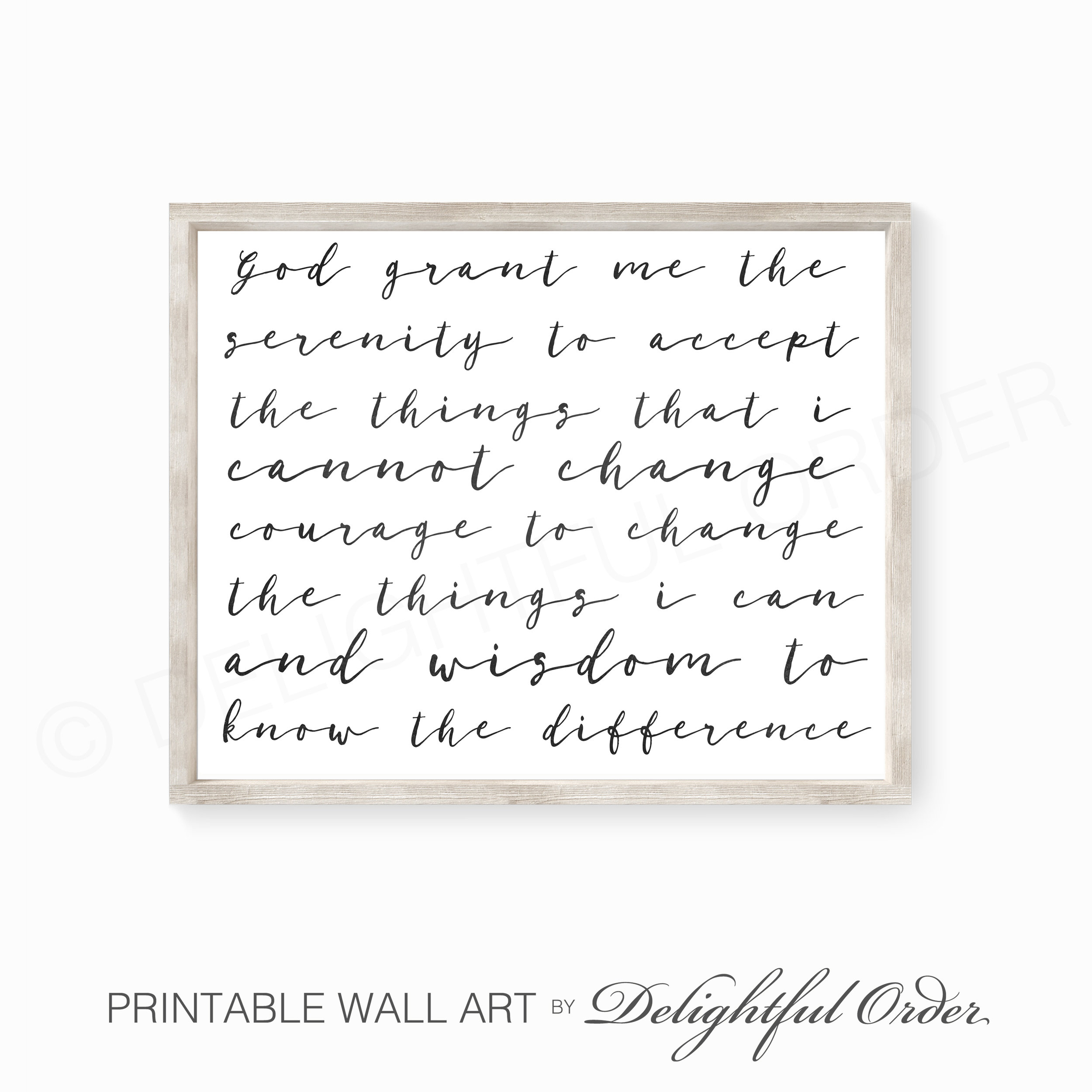 This is a picture of Printable Serenity Prayer in bookmark