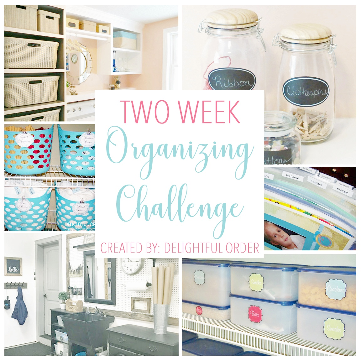 2 week organizing challenge