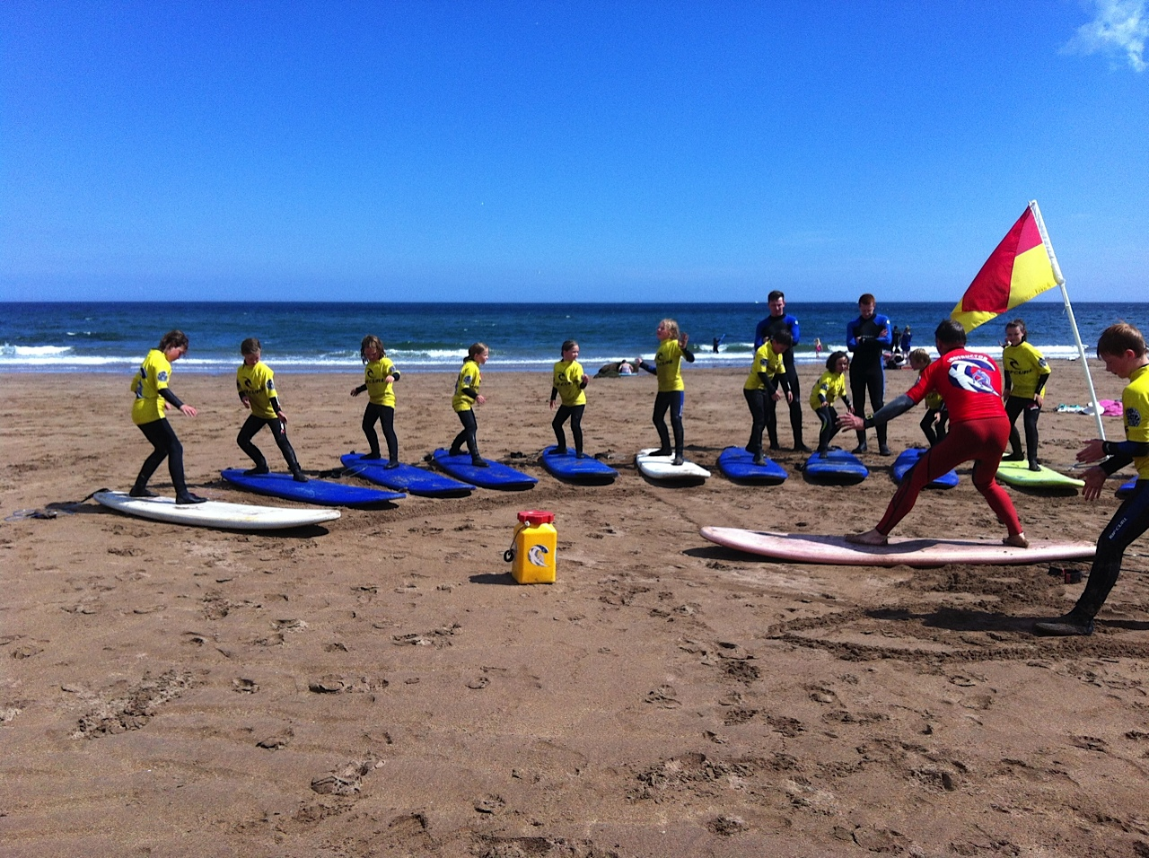 surf lessons on Coldingham beach