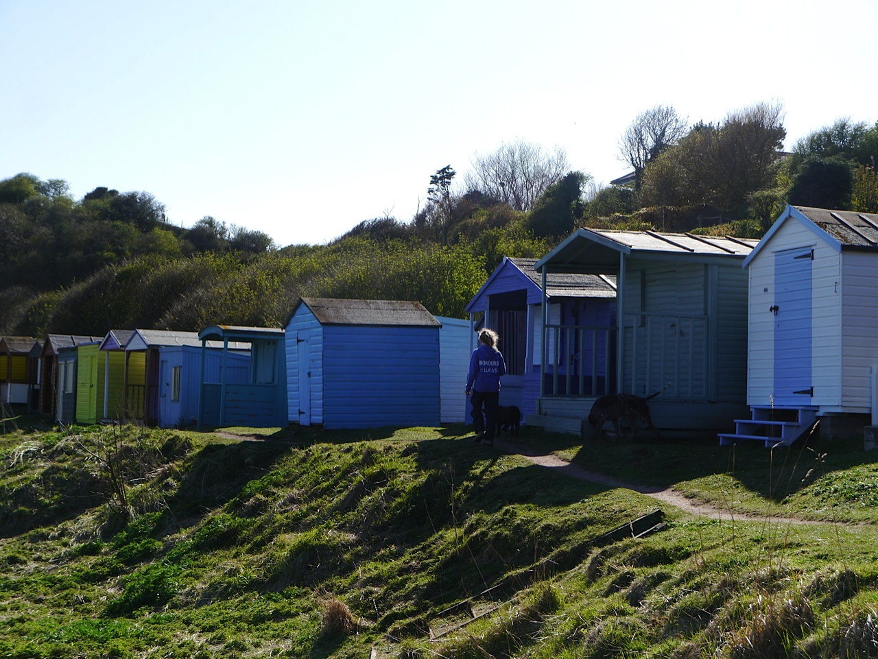 Beach huts at Coldingham Bay
