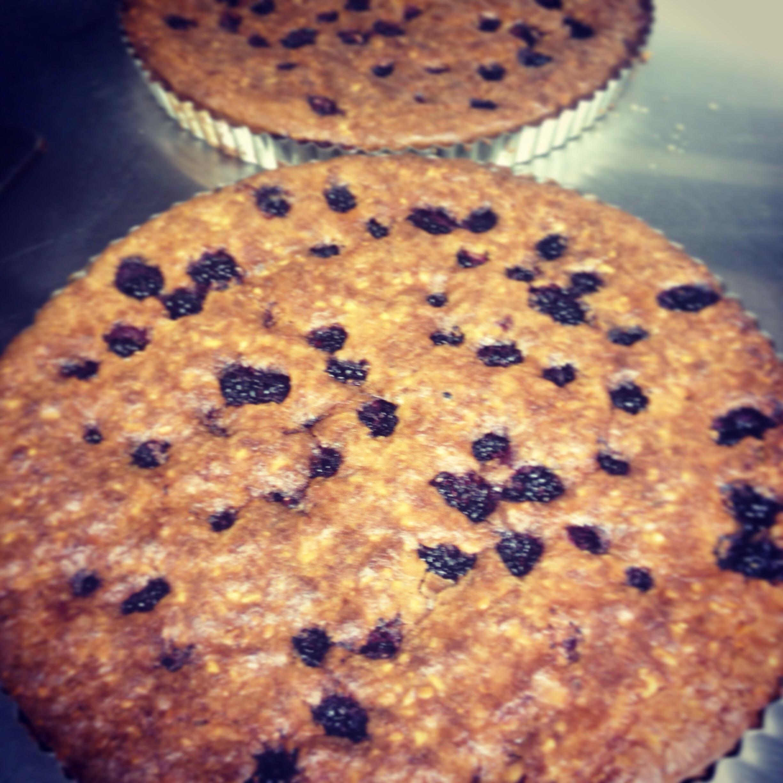 Blackberry and hazelnut frangipane tart