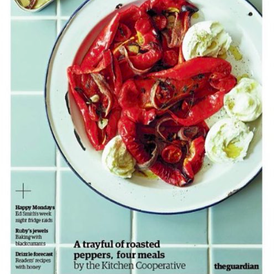 Guardian Cook - A trayful of roasted peppers, four meals