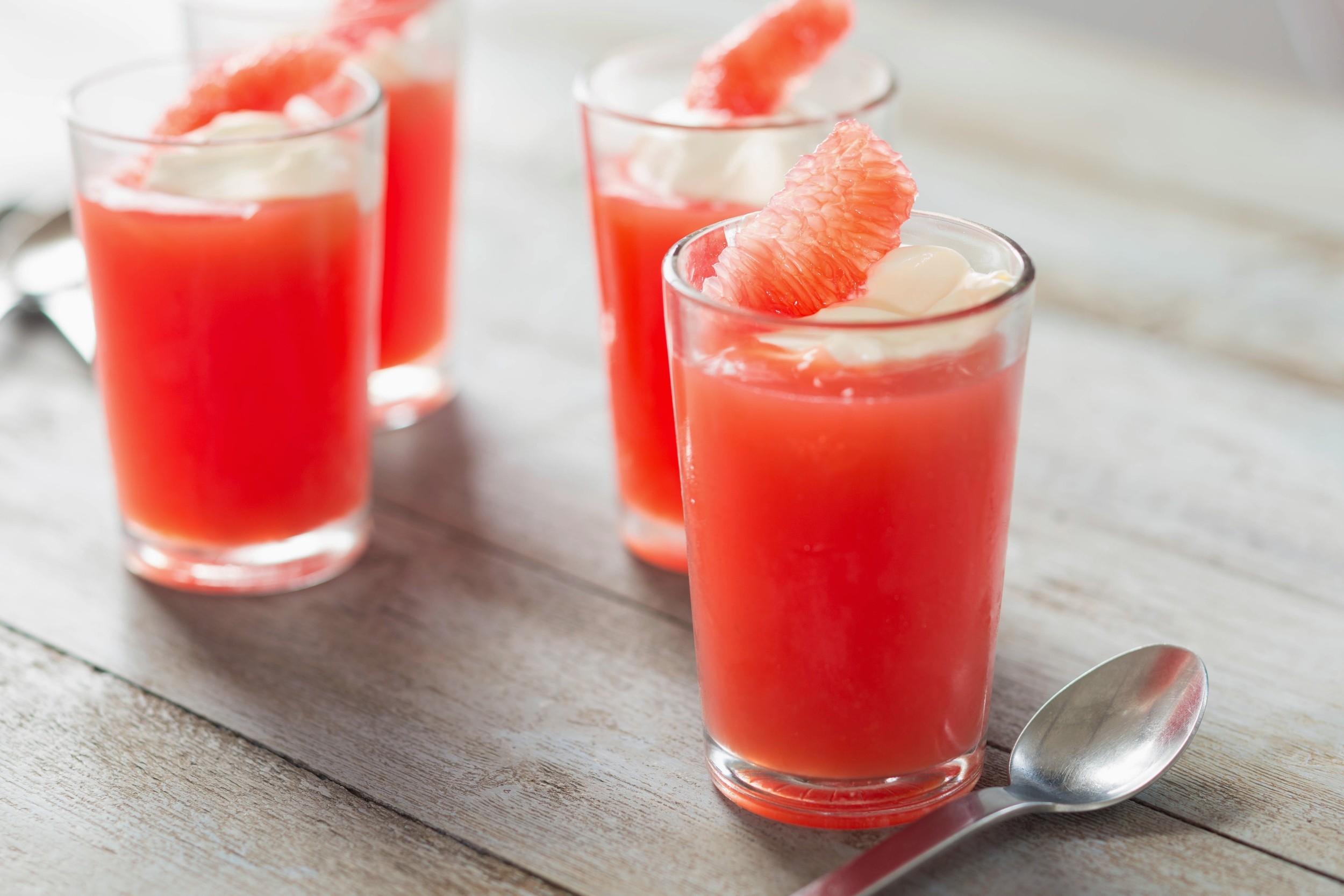 Grapefruit & campari jelly