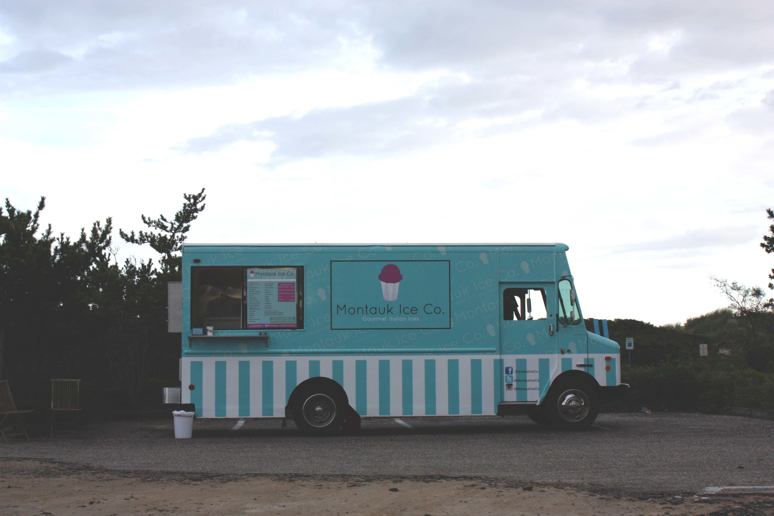 Summer staple  . Montauk Ice Co . in Kirk Park, serving homemade italian ices in a food truck.