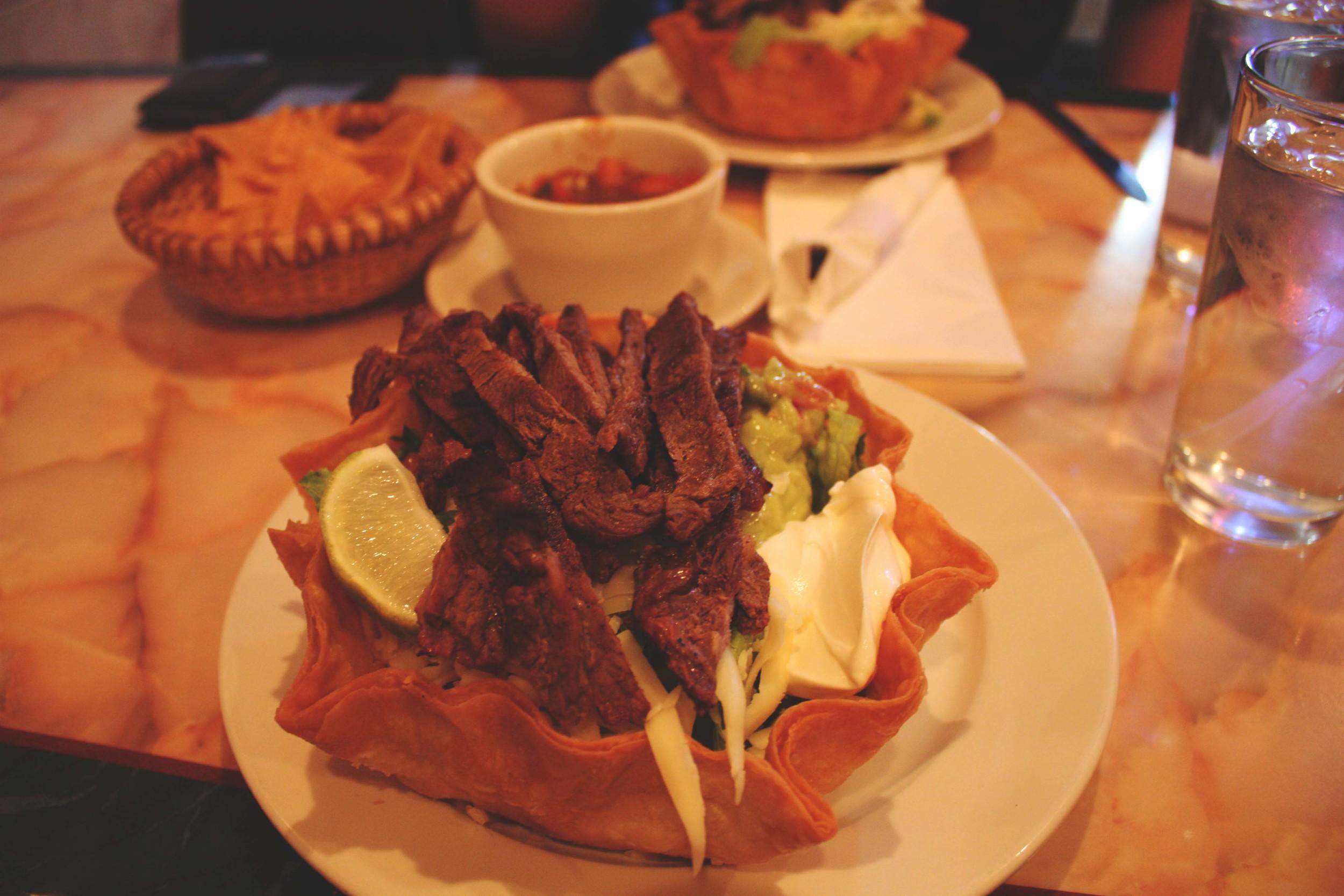 El Ranchito 's Taco Salad.  Hopefully the image does it justice.