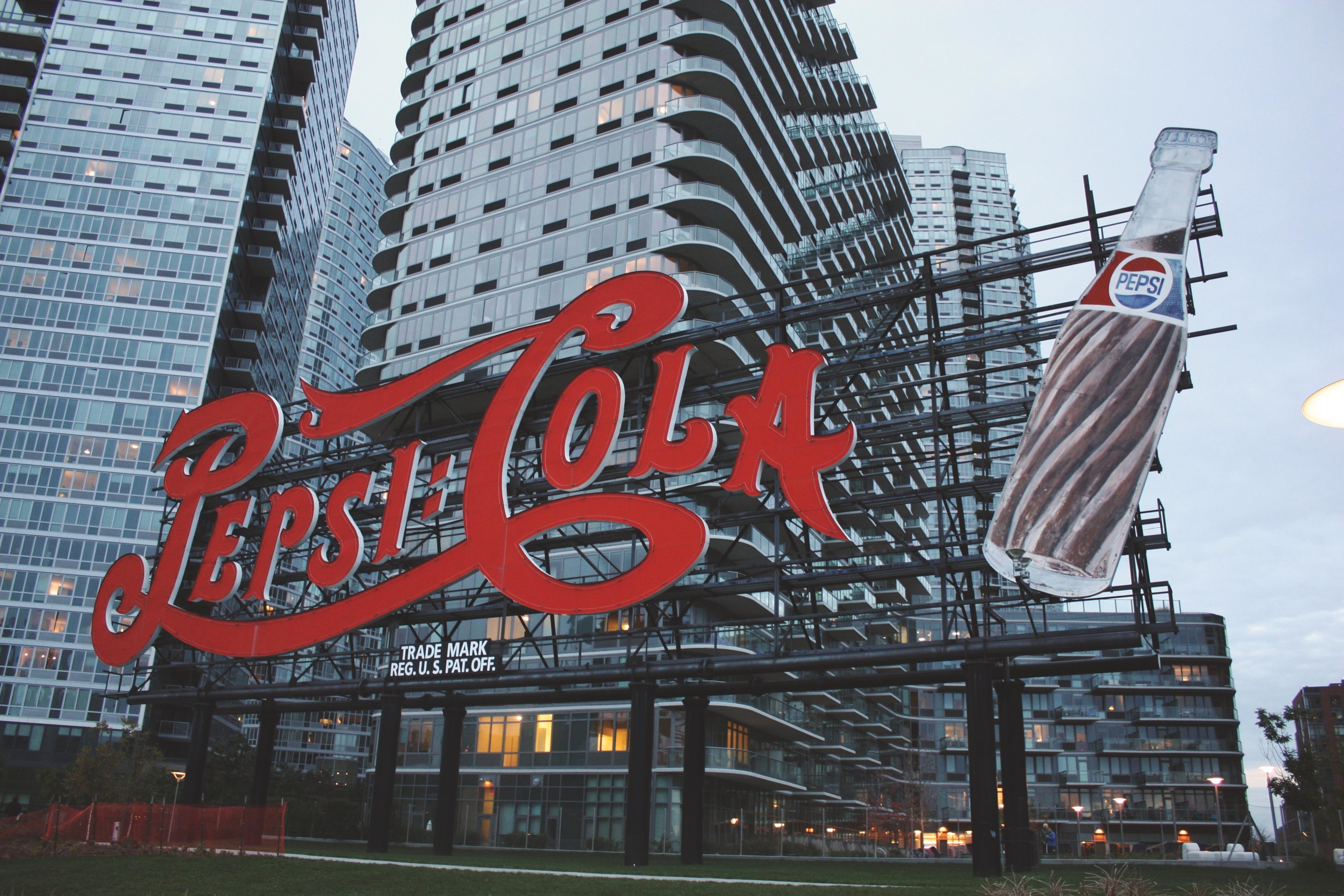 Classic Queens . This preserved Pepsi-Cola sign was originally constructed on top of a Pepsi bottling plant back in 1936 .