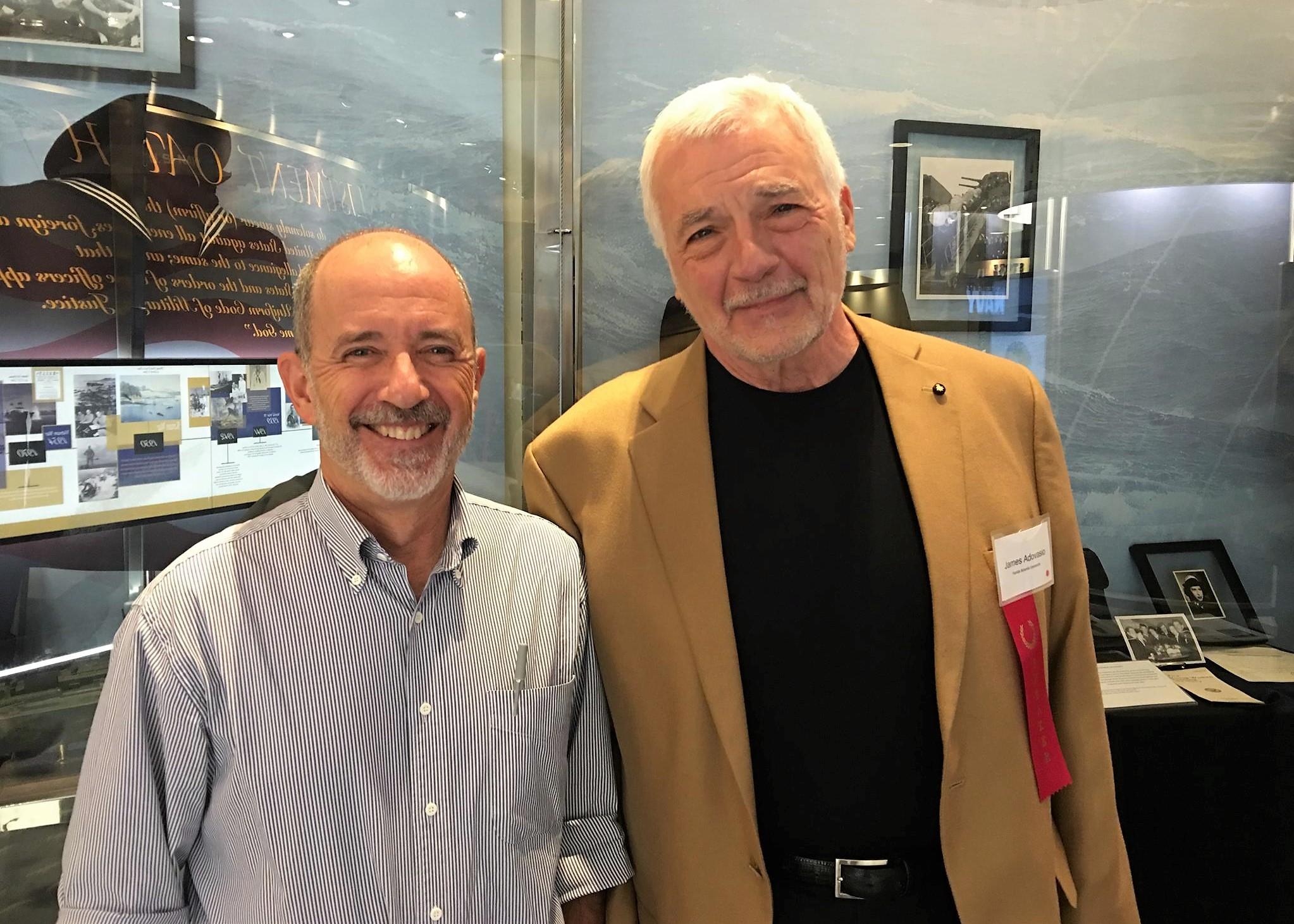 Steve Meltzer and James Adovasio.jpg