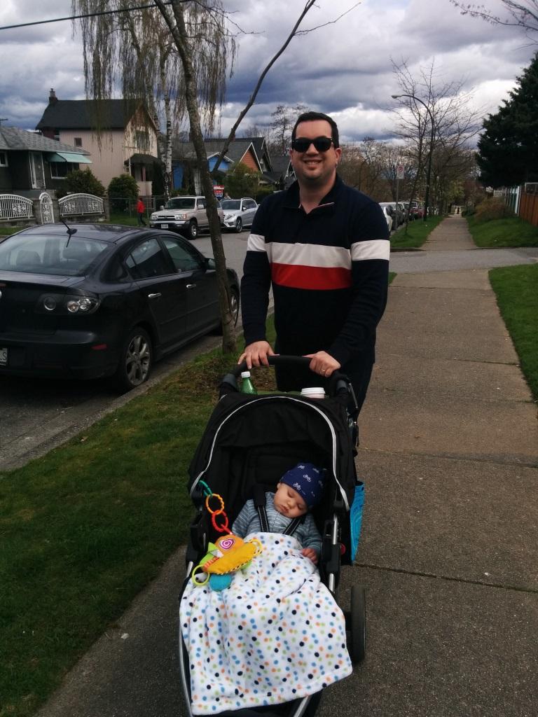 First time in the big boy stroller.jpg