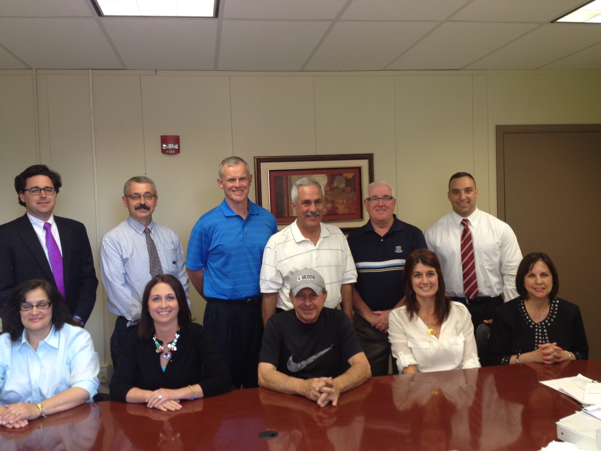 Tony Pero Memorial Golf Tournament Committee:   Seated (L to R): Gloria Pero, Cindy Iacavazzi, Jim Brozetti, Joyce Mitchell and Mary Rose Giacometti.   Standing (L to R):   Mike Cummings Jr.,  Joe Woelkers, Kevin McLaughlin, Charlie Cascio, Bill McDonnell and Anthony Pero, Jr.