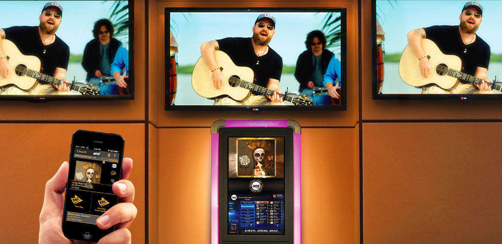 ABC Music offers AMI Jukeboxes with the AMI Music App.