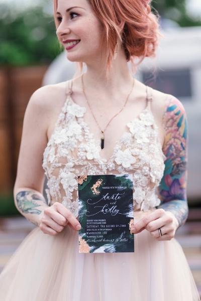 Creative wedding branded invitation