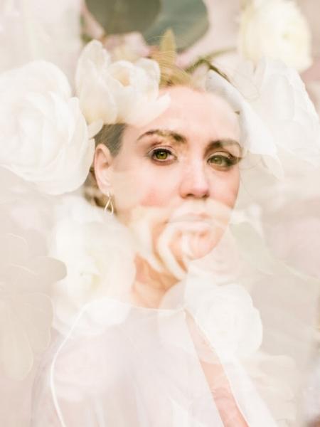 Unique floral bridal portrait