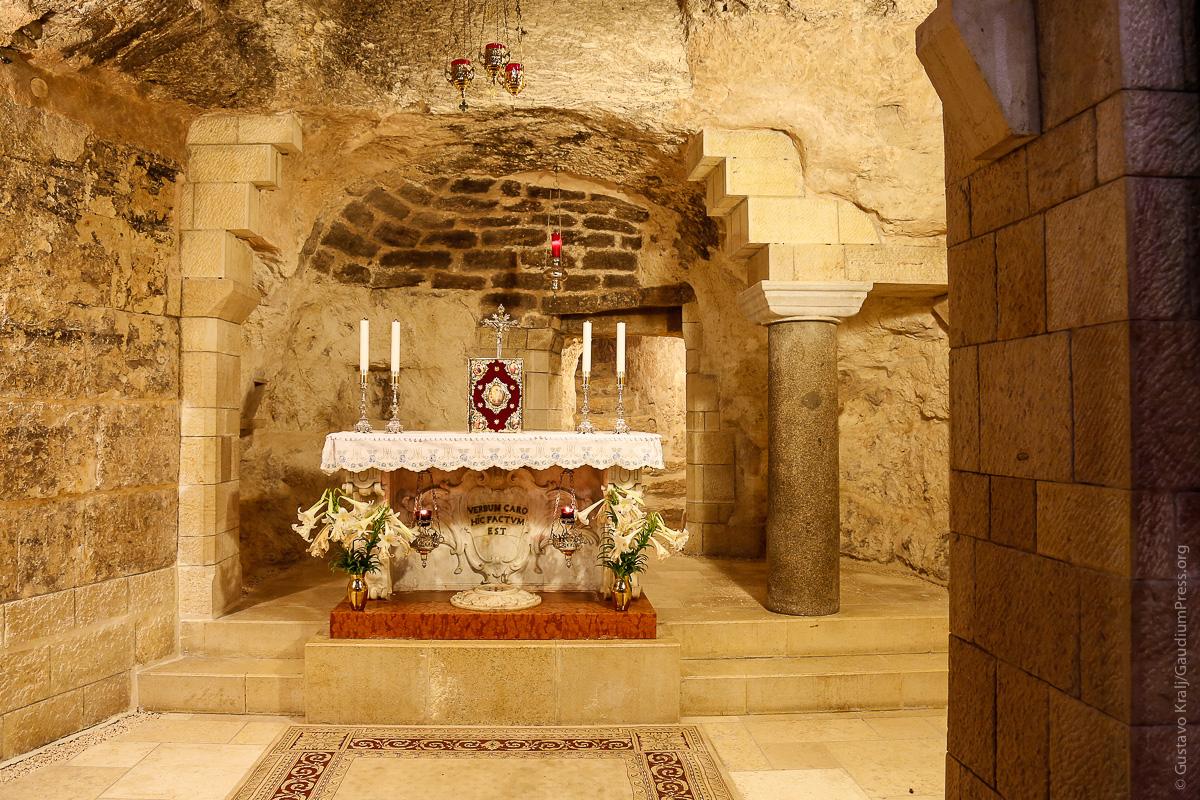 Nazareth, Tierra Santa: Gruta de la Anunciación. Foto: Gustavo Kralj/Gaudiumpress