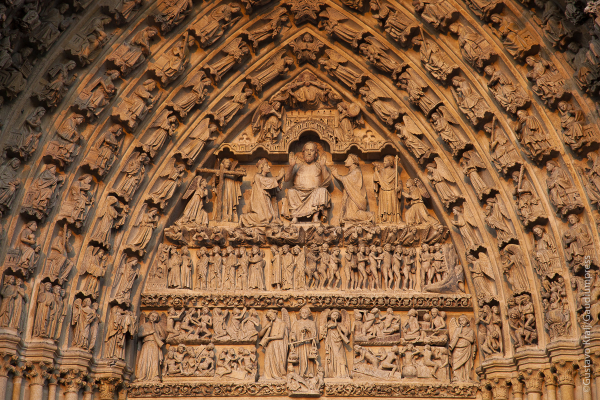 Amiens, Francia: Portal del Juicio Final. Foto: Gustavo Kralj/Gaudiumpress