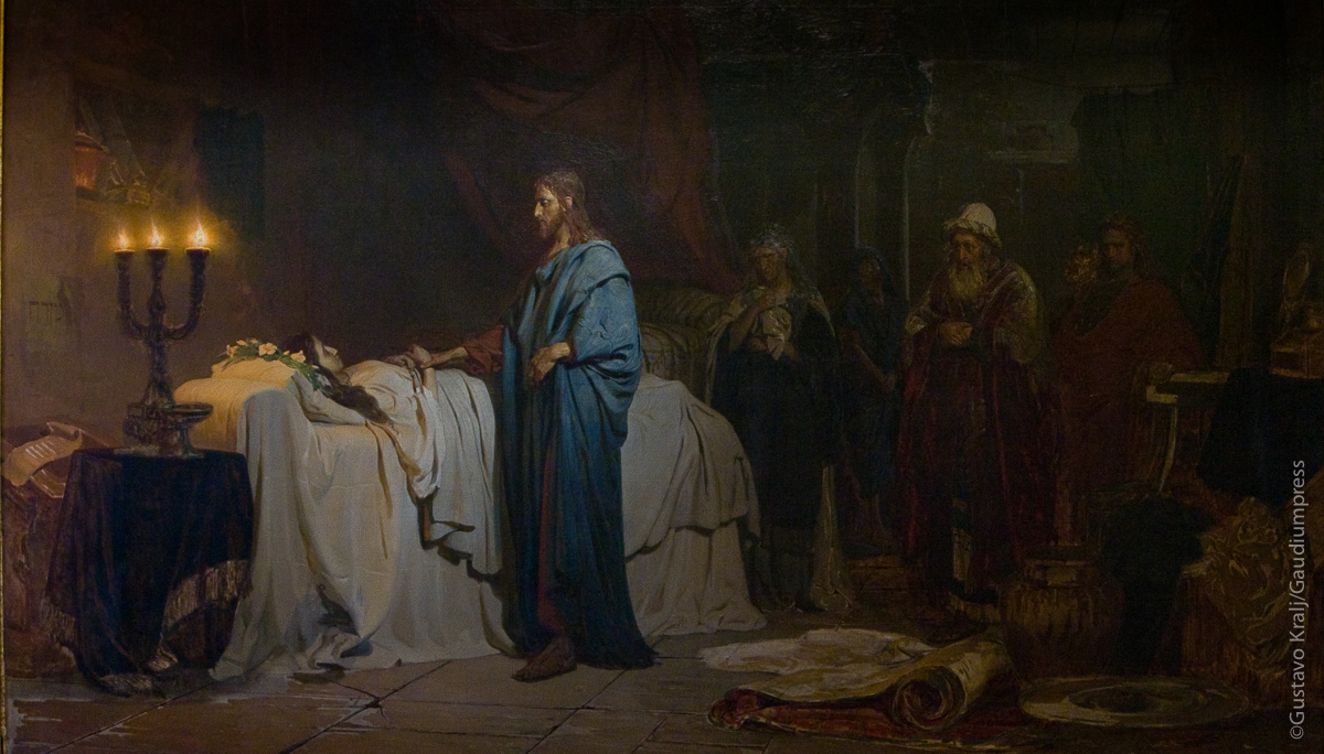 Jesús resucita a la hija de Jairo. Óleo de Illya repin, 1871, Museo Estatal Ruso, San Petesburgo, Rusia. Foto: Gustavo Kralj/Gaudiumpress