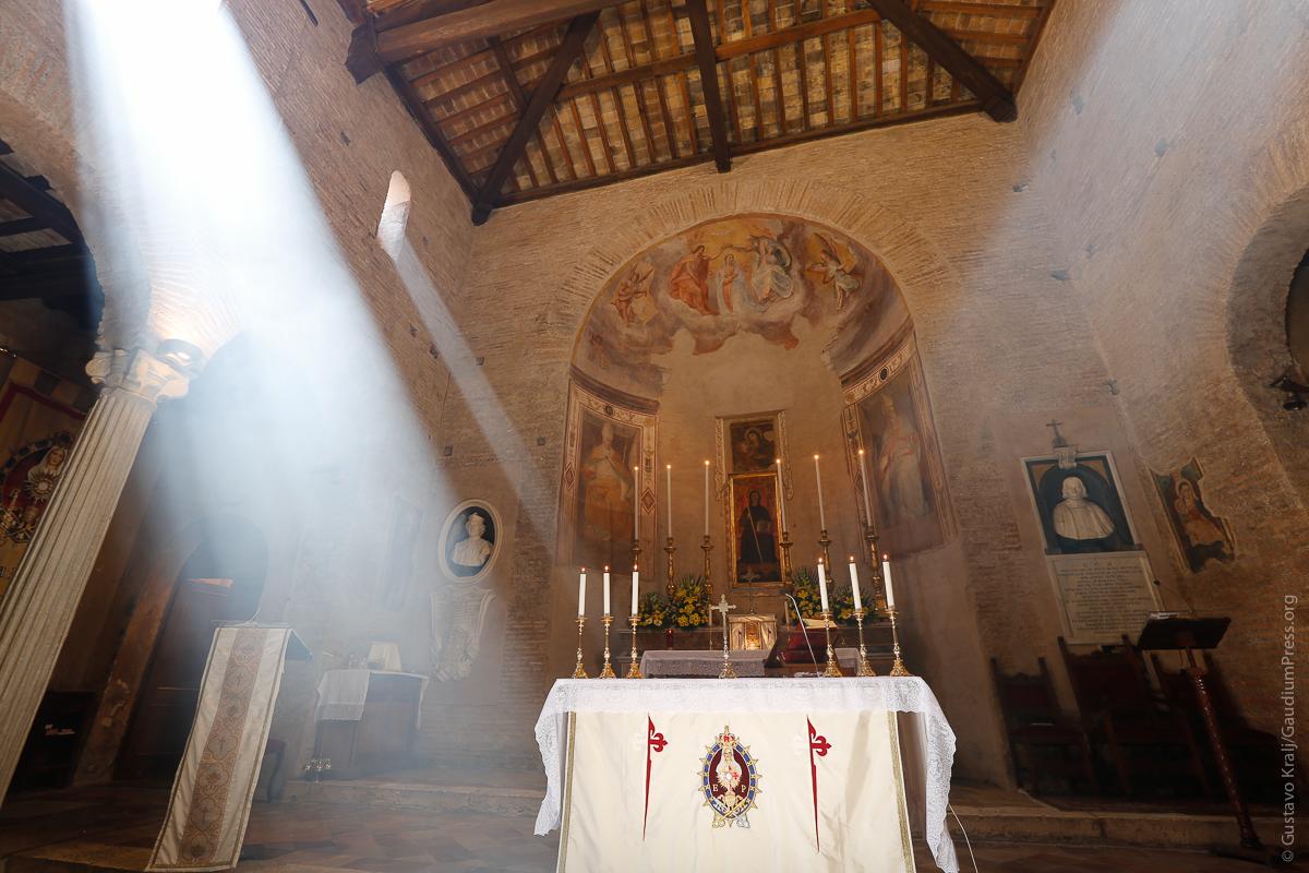 San Benedetto in Piscinula: Heralds of the Gospel Church in Rome. Photo: Gustavo Kralj/Gaudiumpress