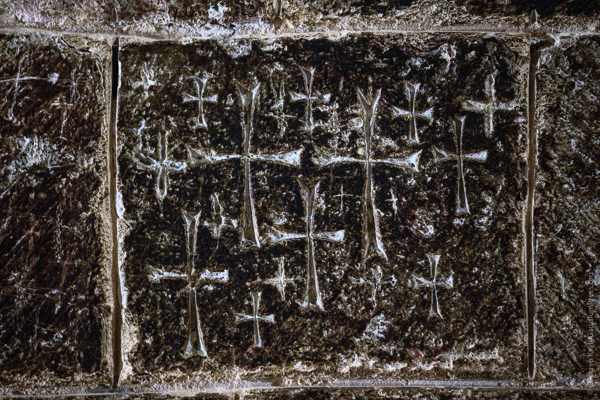 Jerusalem: Cruces talladas por peregrinos medievales. Foto: Gustavo Kralj/Gaudiumpress