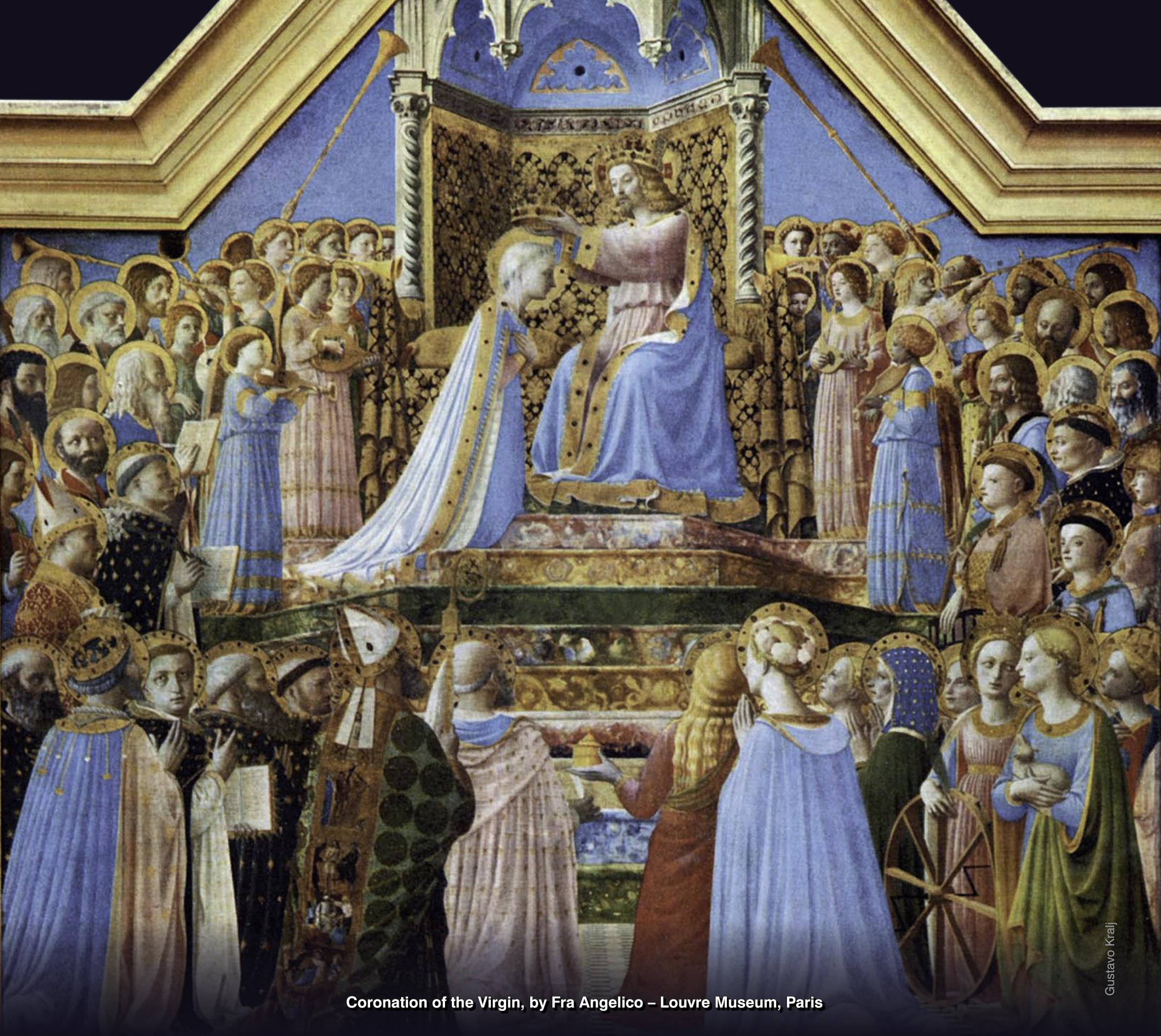 Coronación de la Virgen por Fra Angélico - Museo del Louvre, Paris. Foto: Gustavo Kralj/GaudiumpressImages.com