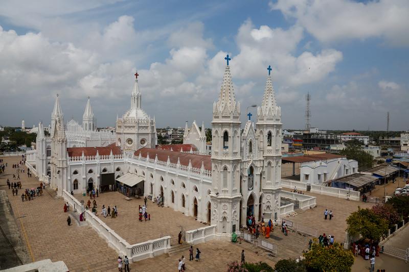 Santuario de Ntra. Sra. de Velankanni, uno de las Pricipales Santuarios de la India. Foto: Gustavo Kralj/GaudiumpressImages.com