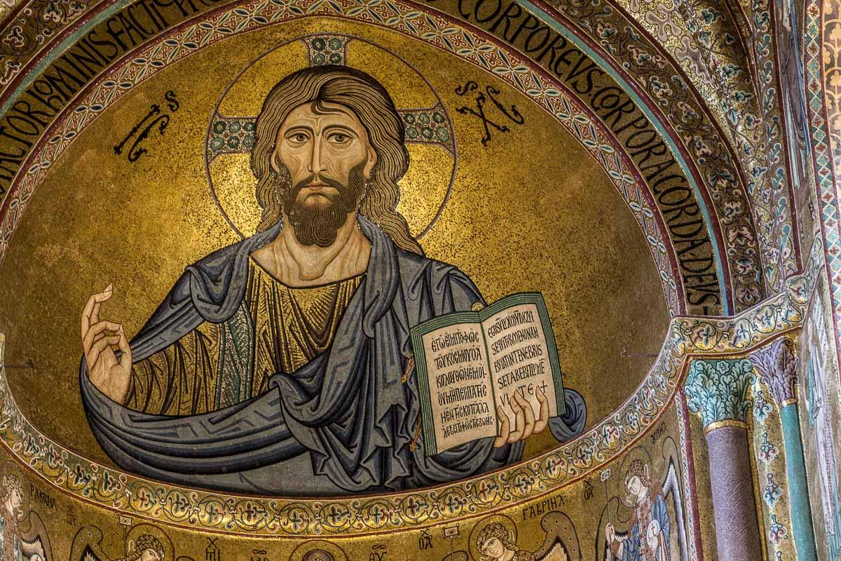 Catedral de Cefalú, Sicilia: Mosaico de Cristo. Foto: Gustavo Kralj/GaudiumpressImages.com