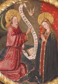 La Anunciación, por el taller de Gonçal Peris - Museo de la catedral de Segorbe (España)