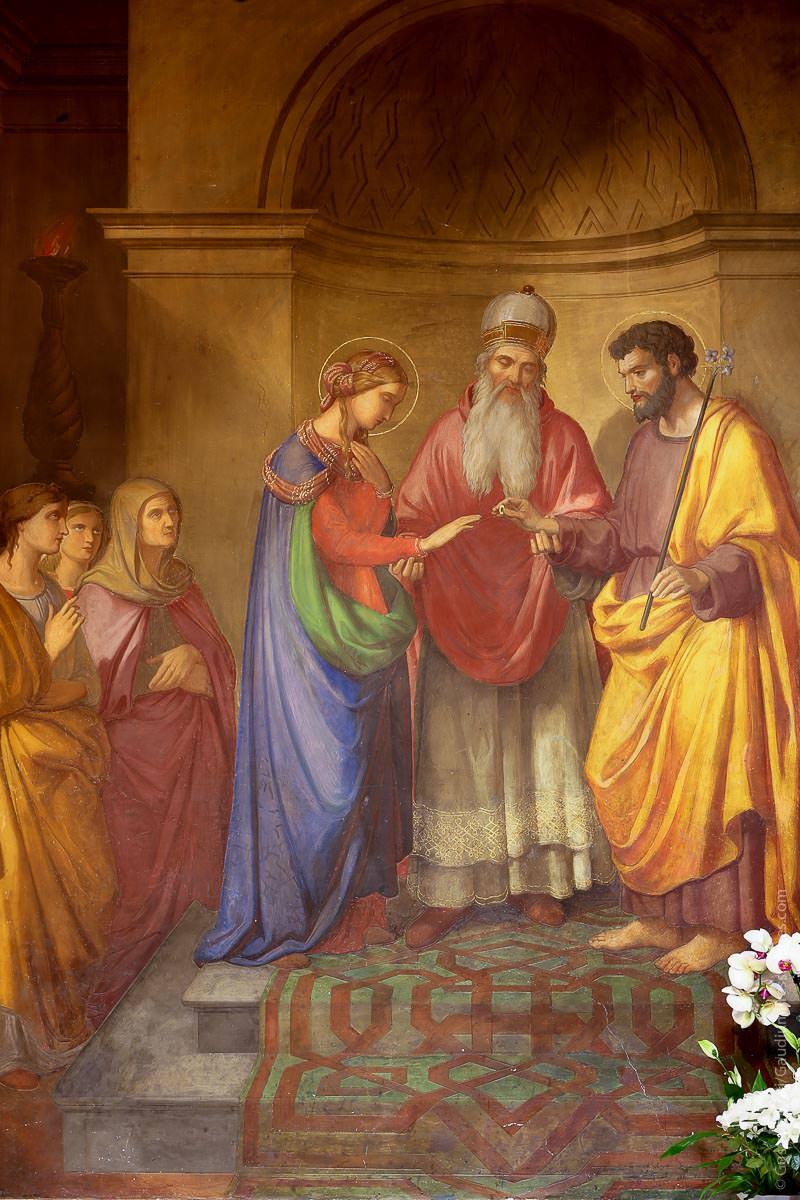 Genazzano. Italia: Casamiento de la Virgen y San José. Foto: Gustavo Kralj/GaudiumpressImages.com
