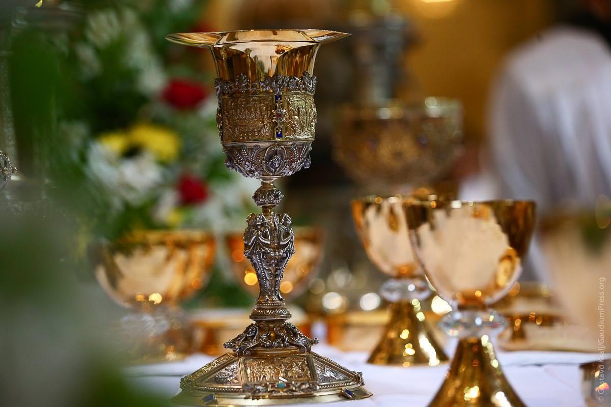 MIsa. Basílica del Santo Sepulcro, Tierra Santa. Foto: Gustavo Kralj/GaudiumpressImages.com