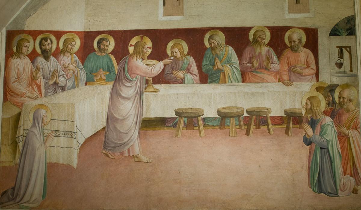 Jesús establece la Sagrada Eucaristía. Foto: Gustavo Kralj/GaudiumpressImages.com