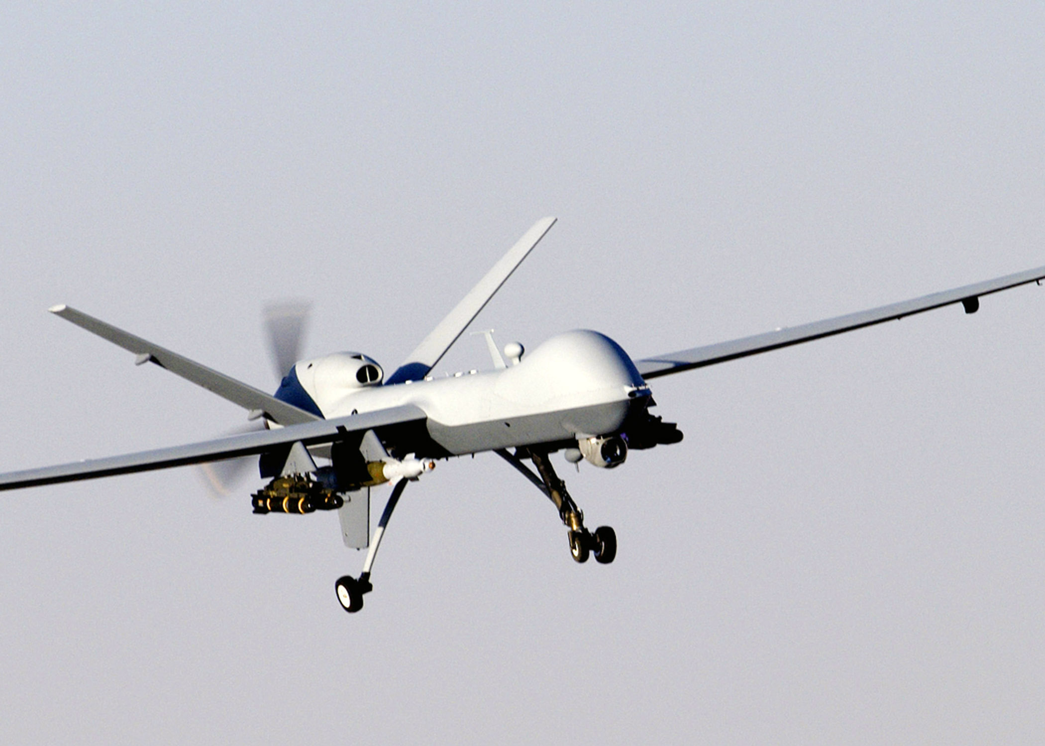 The MQ-9 Reaper is pretty badass, though it's primary purpose is to kill human beings, I'm not really a huge fan of that but hey, it's some cool tech anyway.