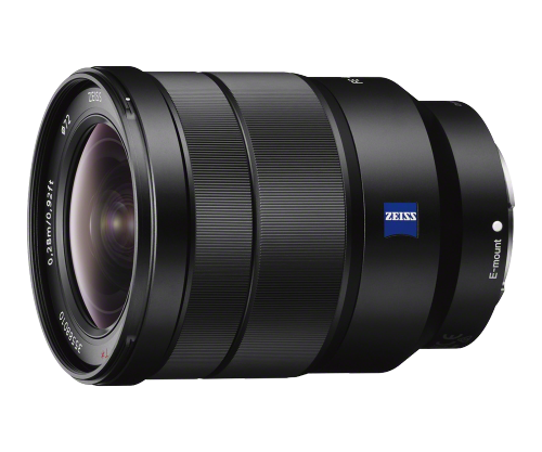 "The Vario-Tessar FE 16-35mm is the closest thing you get.   I own it and It is a very good lens but, but like most FE Sony offerings, it is an f4.  I'd like to have see this in f2.8.  For months, every time I added this lens to my Amazon cart, my inner monologue would kick up with ""Why the F___ are you buying an f4 lens for $1300?"" (my inner monologue often channels Sam L Jackson)   That said, it is definitely a keeper."