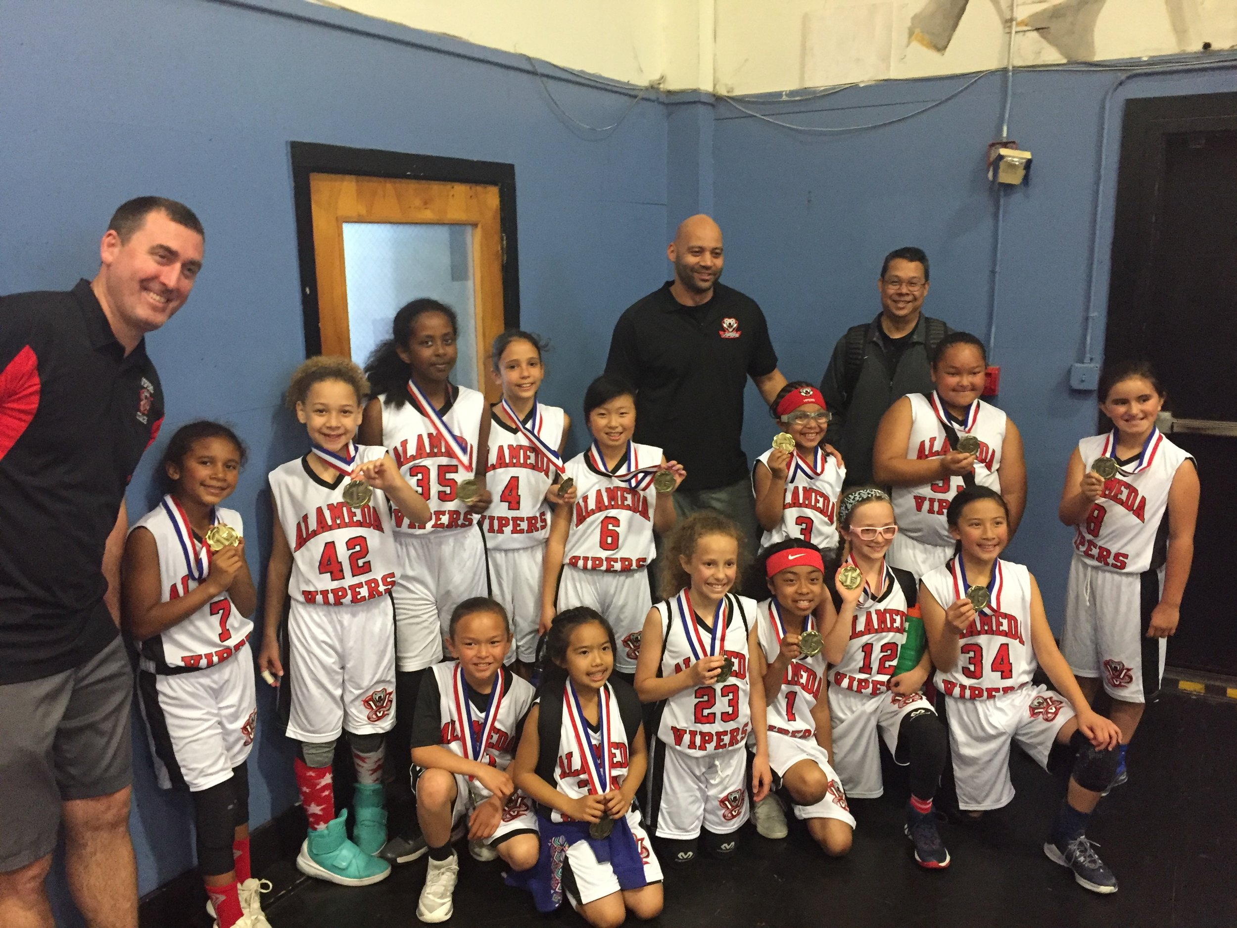 NEW Vipers Girls 3rd-4th grade team first tournament and great win. Great Coaches Patrick and Jeff and Coordinator Ken ! Good work and thanks parents !
