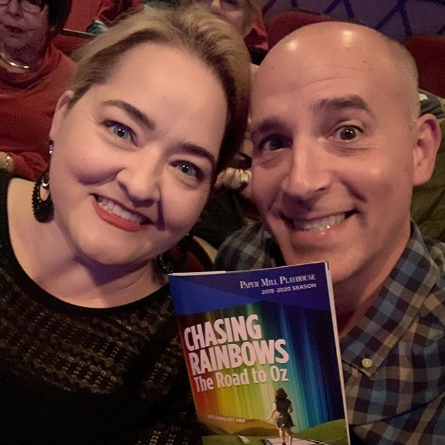 A NY Chanteuse spending the afternoon with @harrybouvy at Papermill. We are watching our friend @kathyvoytko light up the stage along with some seriously talented actors! @mikewartella as Mickey Rooney... he's a hoofer! #musicaltheater #broadwayworld #papermill #actorslife #mymothersdaughter #livelaughlove