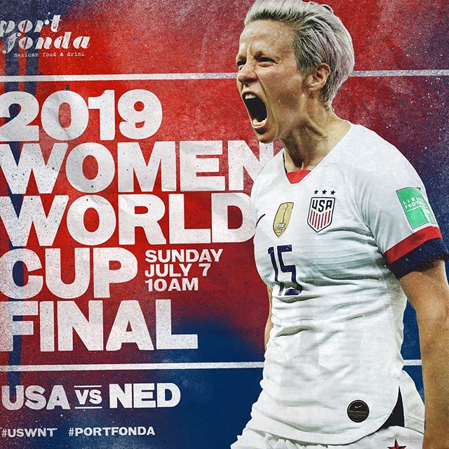 @uswnt watch party this morning! come brunch and enjoy half price #buildyourown #bloodymaria bar till noon! #portfonda