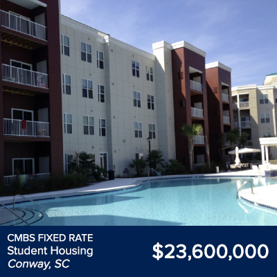 CMBS Fixed Rate Student Housing Conway SC