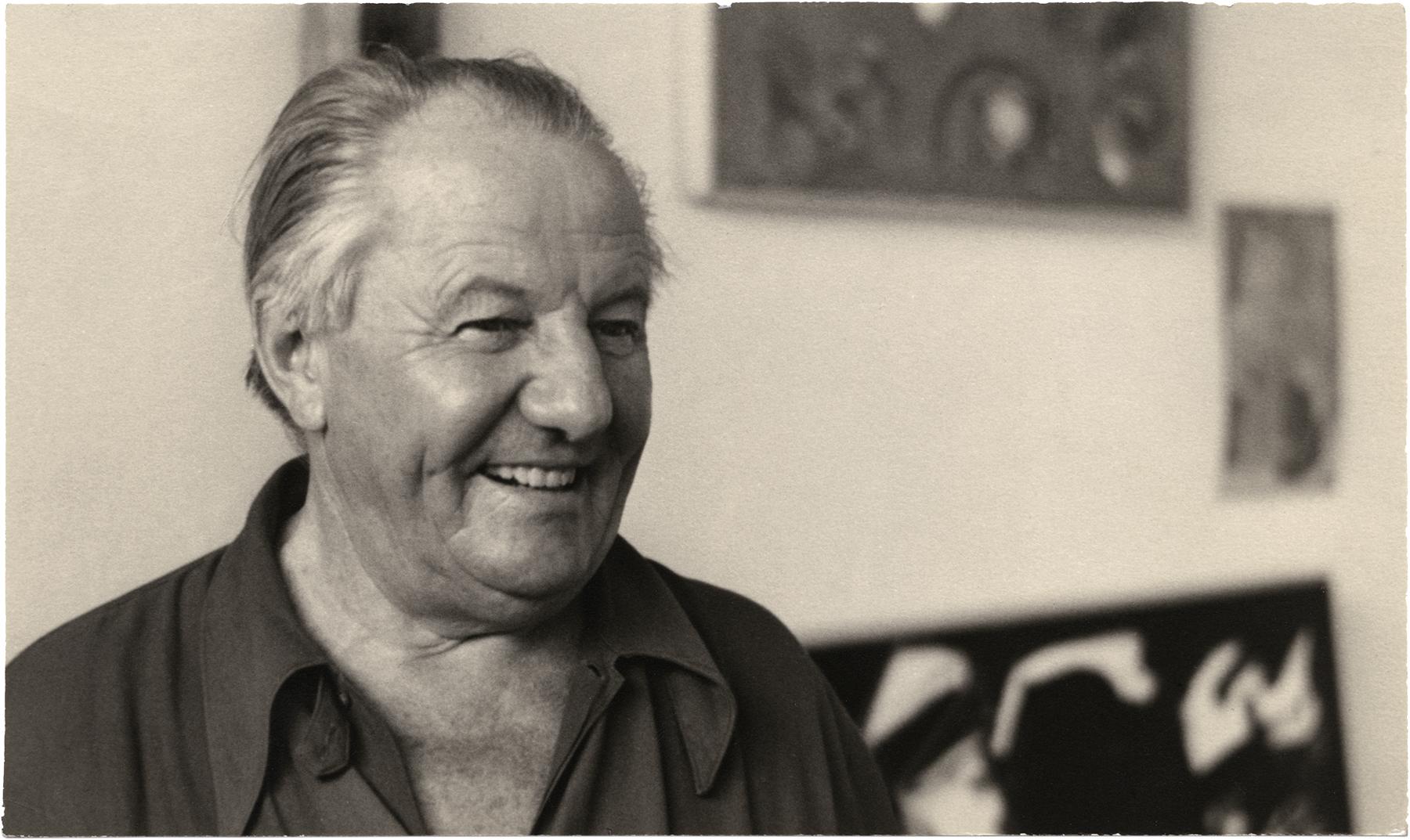 Hans Hofmann, 1949, photographed by Bill Witt in Provincetown, MA. Copyright Estate of Bill Witt.