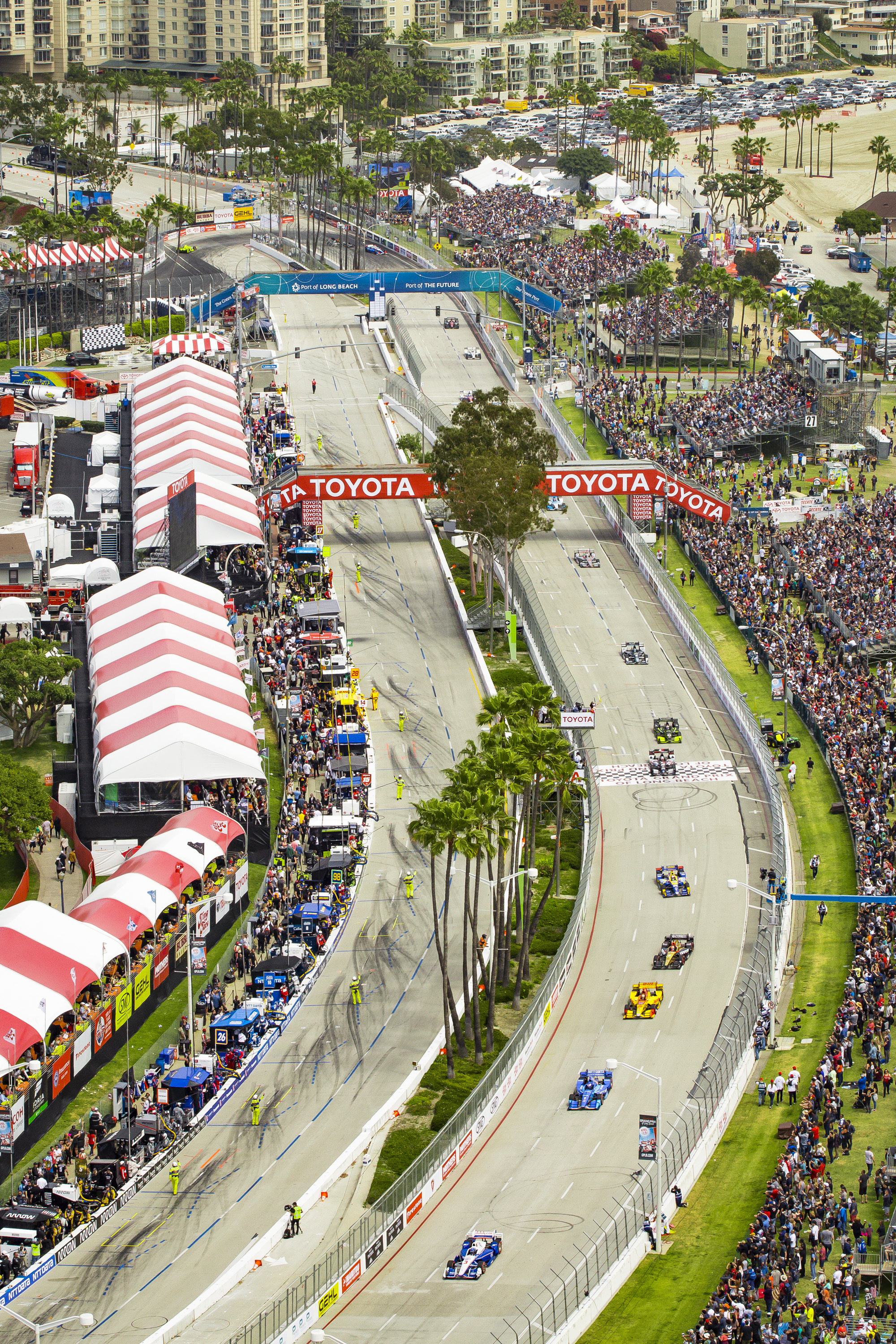 Long Beach Grand Prix Aerial