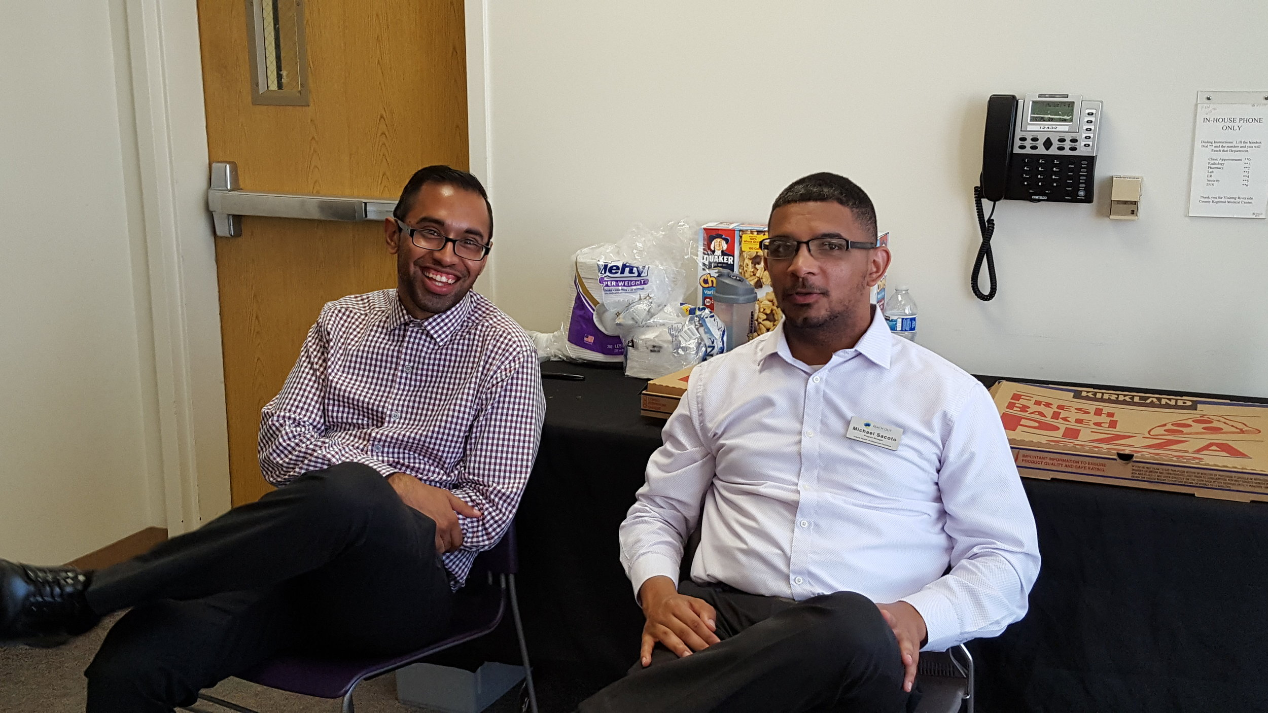 Program managers Rehman and Michael.