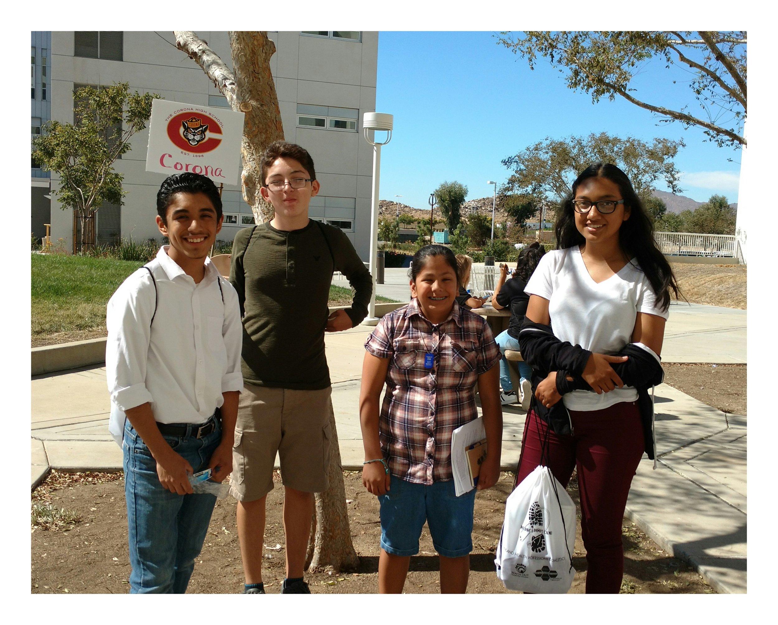 Corona High School students.