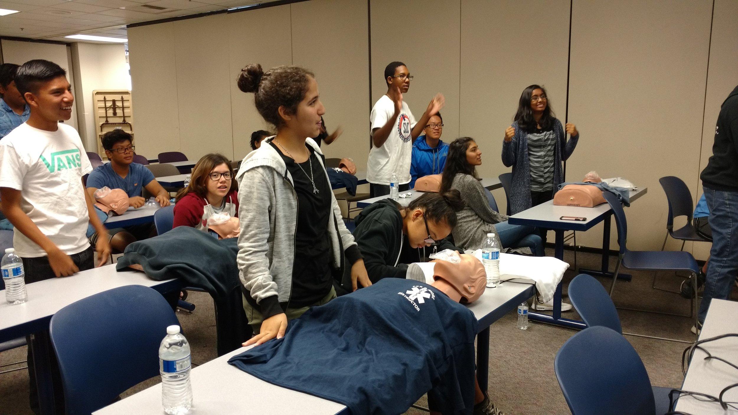 CPR training.