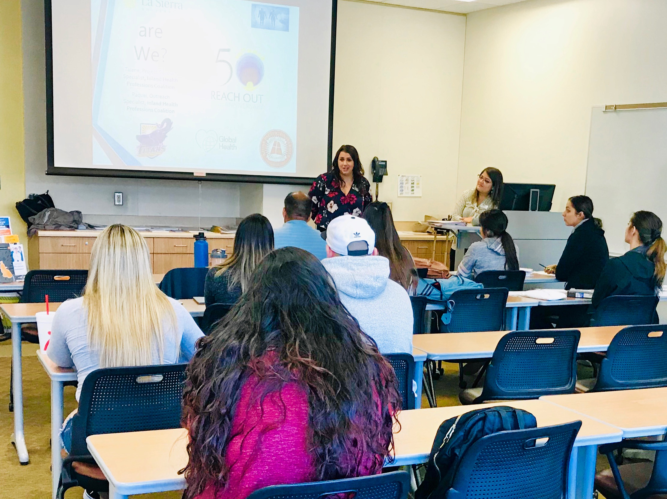 IHPC Staff speaking to Citrus College students on Careers in Healthcare and Public Health